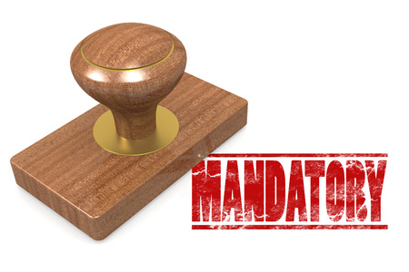 contractual: Mandatorywooded seal stamp image with hi-res rendered artwork that could be used for any graphic design.