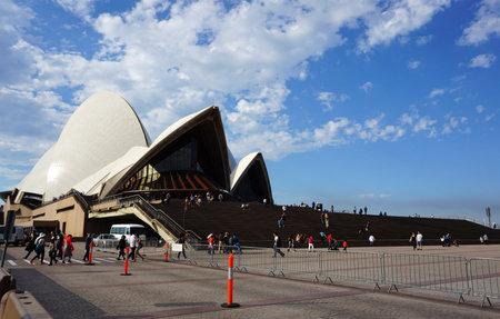 jorn: SYDNEY, AUSTRALIA - JUNE 20, 2016:: Sydney Opera House view in Sydney, Australia. The Sydney Opera House is a famous arts center. It was designed by Danish architect Jorn Utzon.