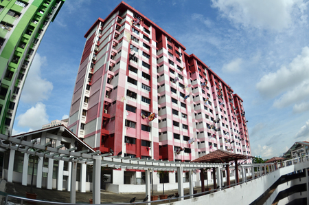 public housing: SINGAPORE, 28 JUL 2016: Prominent landmark of Rochor Centre, slated to be demolished in 2016 to make way for new highway.