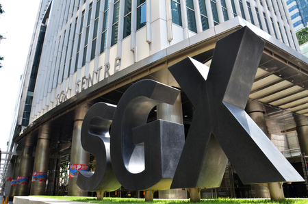 SINGAPORE - 07 AUGUST, 2016: Singapore Exchange Limited is an investment holding company located in Singapore SGX Centre is a twin tower high-rise complex in the city of Singapore
