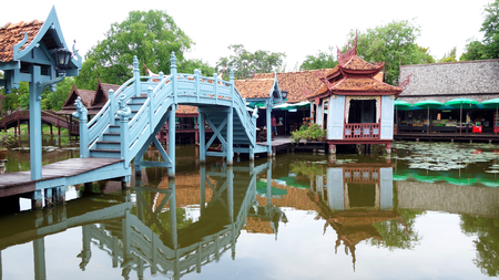 patronage: BANGKOK, THAILAND-20 JUNE, 2016: The Ancient City museum near Bangkok, Thailand. Ancient Siam is a park constructed under the patronage of Lek Viriyaphant