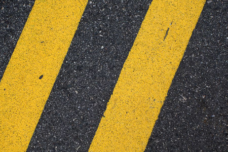 yellow line: Black Road Pavement with Yellow Double Line