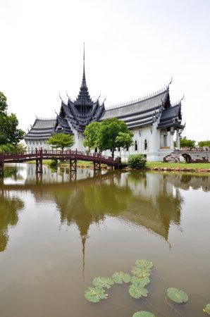 BANGKOK, THAILAND-20 JUNE, 2016: Sanphet Prasat Palace located in Ancient City, Bangkok, Thailand