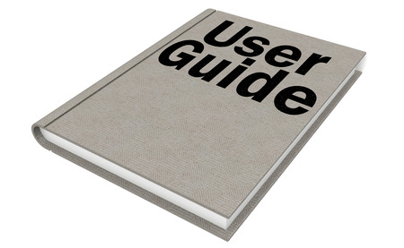 compendium: User guide Isolated on the white background, 3D rendering