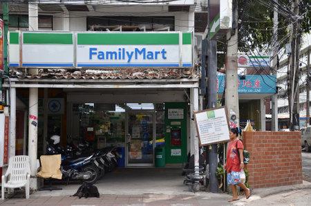 mart: PATTAYA, THAILAND - 22 NOV, 2016: Family Mart twenty four hour convenience store located in Pattaya, Thailand