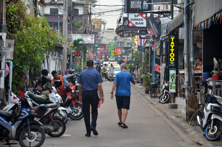 PATTAYA, THAILAND - 19 NOV, 2016: Viiew of Soi 6 in Pattaya.Thailand