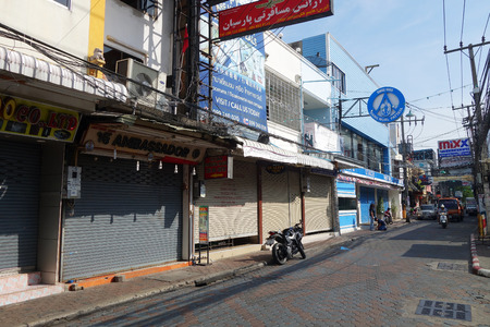 brothel: PATTAYA, THAILAND - 19 NOV, 2016: Viiew of Walking Street in Pattaya.Thailand