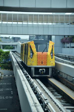 SINGAPORE - 18 NOV, 2016: The Changi Airport Skytrain at Singapore Changi Airport, Singapore Editorial