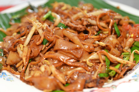 Fried Penang Char Kuey Teow which is a popular noodle dish in Malaysia