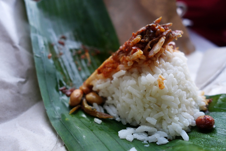 Traditional Malay food in Malaysia named nasi lemak Stock Photo