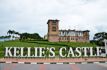 IPOH, MALAYSIA- 29 DEC, 2016: Kellies Castle is a castle located in Batu Gajah, Malaysia. The unfinished, ruined mansion, was built by a Scottish planter named William Kellie Smith