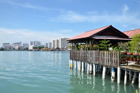 stilt: PENANG, MALAYSIA-29 DECEMBER, 2016: Heritage stilt houses of the Chew Clan Jetty, George Town, Penang, Malaysia Editorial