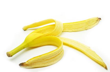 banana skin: Peeled banana skin isoated on white background