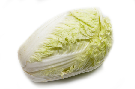 nappa: Nappa cabbage isolated over the white background Stock Photo