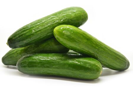 cuke: Fresh cucumbers isolated on a white background