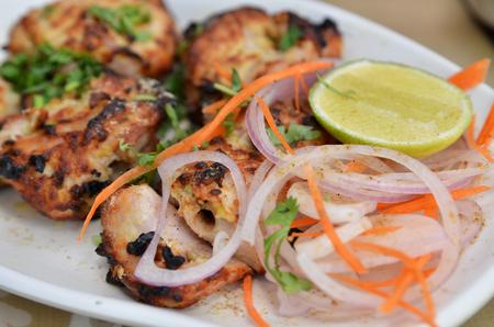 Chicken Malai Tikka Boneless piece, Indian dish.
