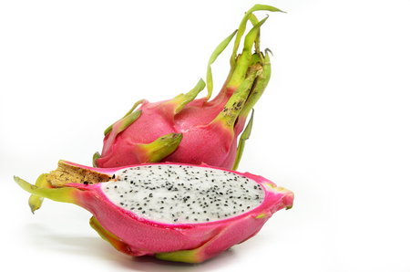 distinctive: Vivid and Vibrant Dragon Fruit isolated against white background