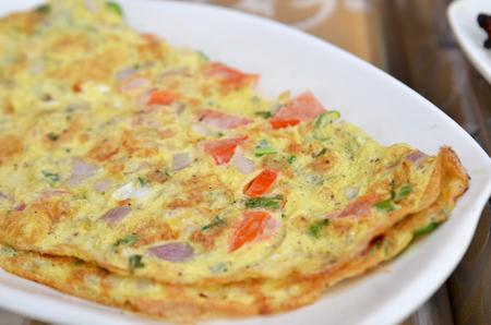 Masala Omelette Indian Style .famous street food of Mumbai