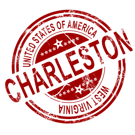 3d virginia: Red Charleston with white background, 3D rendering
