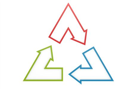 Triangle arrow image with hi-res rendered artwork, 3D rendering