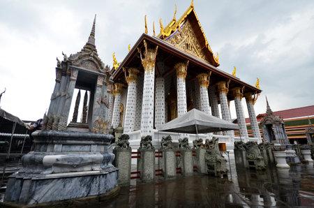 BANGKOK, THAILAND- MAY 19, 2017: View of Wat Arun in Bangkok Thailand, Wat Arun is a Buddhist temple in Bangkok Yai district of Bangkok