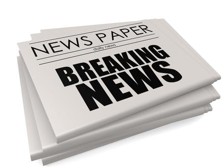 stockmarket: Breaking news headline on a mock up newspaper, 3D rendering Stock Photo