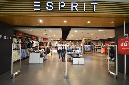 manufacturer: KOTA KINABALU, MALAYSIA- JUN 23, 2017: Esprit store inside of Suria Sabah Shopping Mall in Kota Kinabalu, Sabah, Malaysia. Editorial