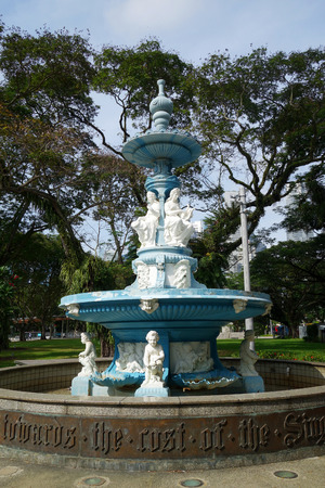SINGAPORE- 21 JULY 2017: This is a beautiful Victorian fountain built in recognition of Tan Kim Seng, a prominent Chinese community leader and philanthropist.