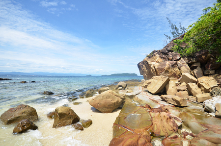 Beautiful sea view at Sapi island in Sabah Stock Photo