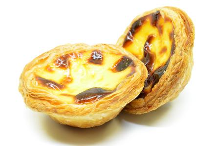 Typical Portuguese custard pies Pastel de Nata or Pastel de Belem