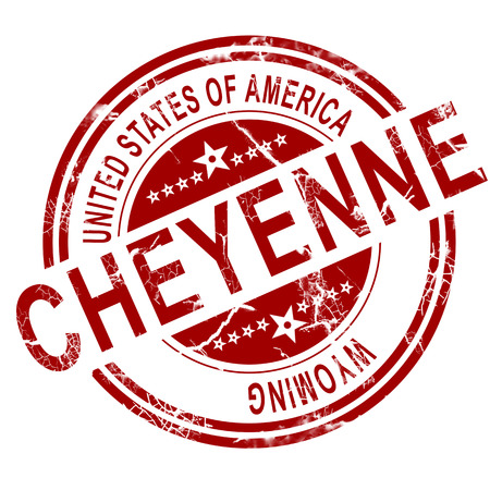 Red Cheyenne with white background, 3D rendering