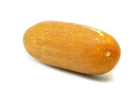 Chinese yellow cucumber on white background