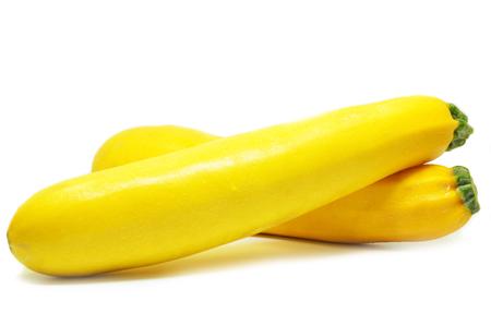 Żółty kabaczek na białym tle