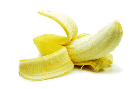 Yellow bananas isolated on white background