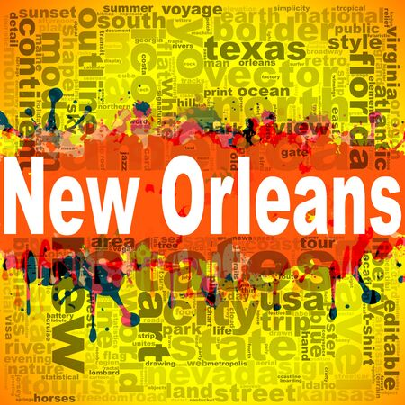New Orleans word cloud design. Creative illustration of idea word lettering typography . 3D rendering. Stock Photo