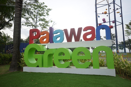 SINGAPORE-25 JUN, 2018: Palawan Green located in Sentosa, Singapore. Itis a lawn space along the beach that held mega events such as concerts Editorial