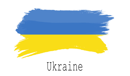 Ukraine flag on white background, 3d rendering Foto de archivo - 105129088