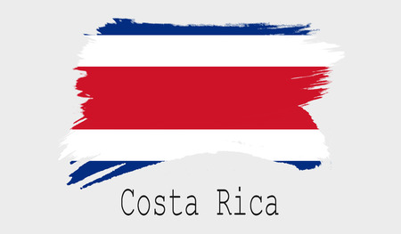 Costa Rica flag on white background, 3d rendering Stock Photo