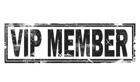 VIP member word with black frame, 3D rendering Banco de Imagens