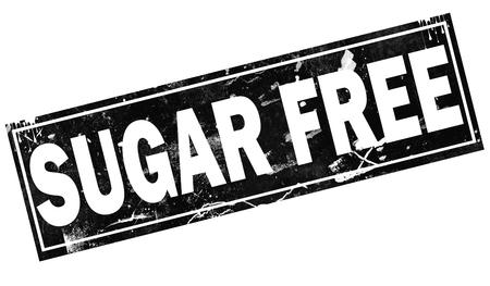 Sugar free word with black frame, 3D rendering Banco de Imagens