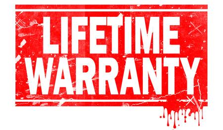 Lifetime warranty word in red frame, 3D rendering Reklamní fotografie