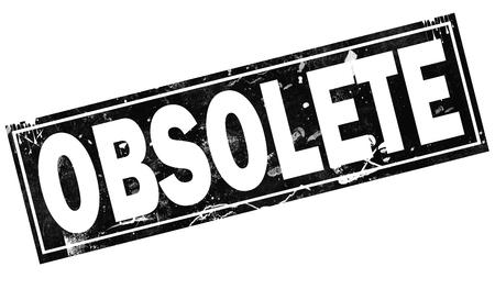 Palabra obsoleta con marco negro, render 3d