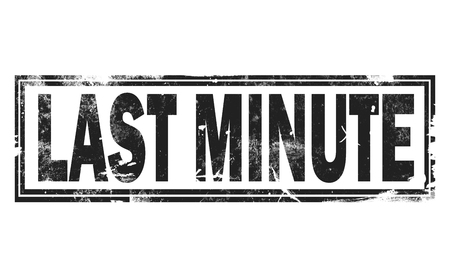 Last minute word with black frame, 3D rendering