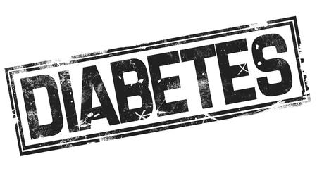 Diabetes word with black frame, 3D rendering