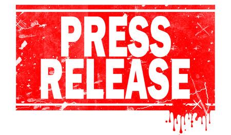 Press release word in red frame, 3D rendering Stock fotó - 110699806