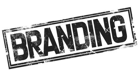 Branding word with black frame, 3D rendering Banco de Imagens
