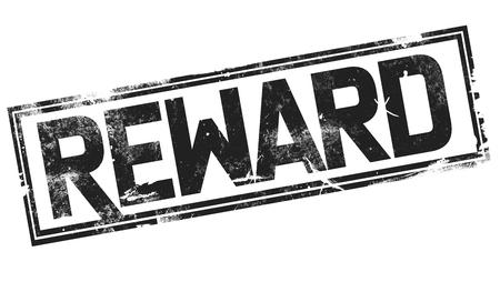 Reward word with black frame, 3D rendering Banco de Imagens