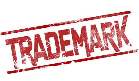 Trademark word between red line, 3d rendering 写真素材