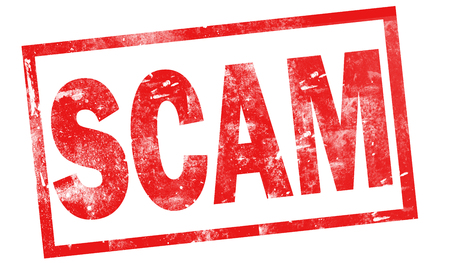 Scam in red ink stamp, 3d rendering Stock Photo - 110699850