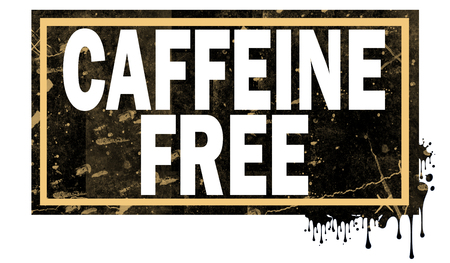 Caffeine free word with black frame, 3D rendering